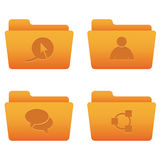 02 Orange Folders Internet Icons Stock Image