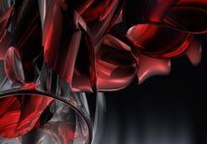 02 röda chromrør Arkivbild