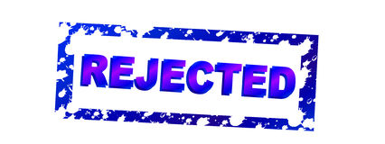 02 rejected Στοκ εικόνες με δικαίωμα ελεύθερης χρήσης