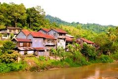 02 rzeki wioska Zdjęcia Royalty Free