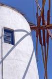 02 santorini wiatraczek Zdjęcie Stock