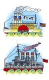 02 ships Arkivfoton