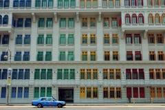 02 singapore fönster Fotografering för Bildbyråer