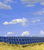 02 sol- paneler Arkivbilder
