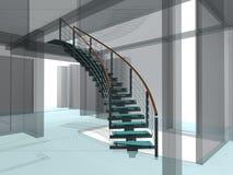02 spiral trappuppgångar för abstrakt konstruktioner Arkivfoton
