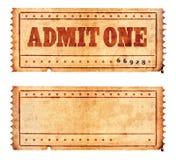 02 tickets two Στοκ Εικόνες