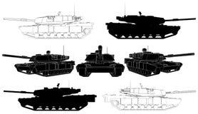 02 wojskowego zbiornika wektor royalty ilustracja