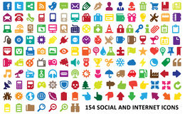 0202 Colorful Web Icons 2 (editorial) Royalty Free Stock Photo
