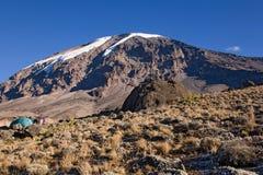 021个阵营karango kilimanjaro 图库摄影
