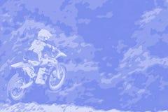 021抽象背景摩托车越野赛 库存照片