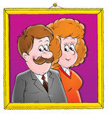 021 vårt bröllop Vektor Illustrationer