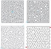 0245 kleine labyrinten Royalty-vrije Stock Afbeeldingen