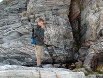 03个登山人岩石 免版税库存照片