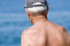03个祖父领退休金者前辈 库存照片