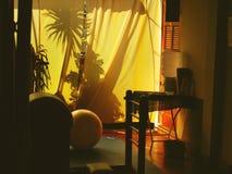 03个窗帘黄色 免版税库存图片