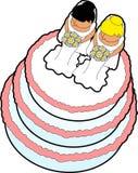 03个蛋糕轻便短大衣婚礼 免版税图库摄影