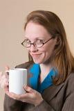03咖啡妇女 免版税库存图片