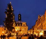 03圣诞节市场schwarzenberg 免版税库存图片