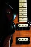 03把吉他葡萄酒 库存照片
