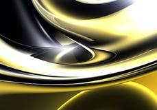 03抽象梦想金黄 向量例证