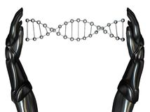 03机器人创建脱氧核糖核酸现有量字符 库存照片