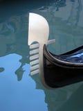 03艘长平底船意大利尾标威尼斯 免版税库存照片