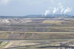 03褐色转换开放的煤矿开采 免版税库存图片