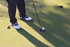 03高尔夫球射击 库存图片