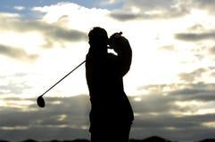03高尔夫球日出 库存图片