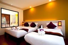 03 σειρές ξενοδοχείων κρεβατοκάμαρων Στοκ Φωτογραφίες