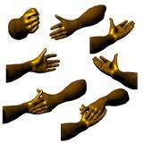 03 золотистых руки Стоковое Фото