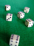 03 плашки играя в азартные игры Стоковые Фото