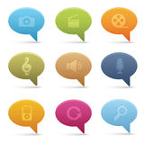 03 Bubble Multimedia Icons Royalty Free Stock Image