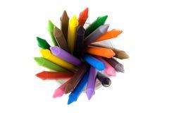 03 crayons Arkivbilder