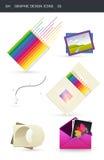 03 designdiagramsymboler Royaltyfria Bilder
