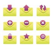 03 Envelopes Internet Icons Stock Images