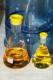03 erlenmeyer flaskor Arkivfoton