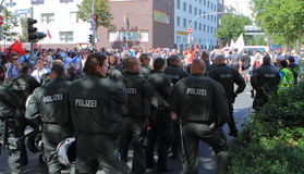 03 för dortmund germany för 11 demo neo sept nazi Royaltyfria Foton
