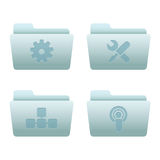 03 Folders Internet Icons. Professional vector set for your website, application, or presentation. The graphics can easily be edited colored individually and be vector illustration