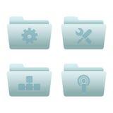 03 icone del Internet dei dispositivi di piegatura Immagine Stock Libera da Diritti