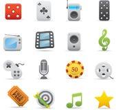 03 icone di intrattenimento Immagine Stock Libera da Diritti