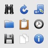 03 ikony ustawiająca stylizowana sieć Fotografia Stock