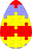 03 jajeczna wakacyjna łamigłówka Obraz Stock