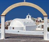 03 kościół Oia santorini Obrazy Royalty Free