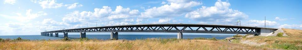 03 oresundsbron全景 免版税库存照片