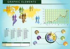 03 personas gráficas del mundo de los elementos Foto de archivo libre de regalías