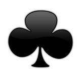 03 pojedynczy pokera symbol Zdjęcia Royalty Free