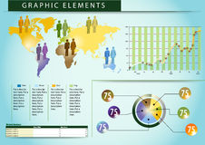 03 povos gráficos do mundo dos elementos Foto de Stock Royalty Free