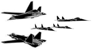 03 samolotów wojskowy vector Zdjęcie Stock