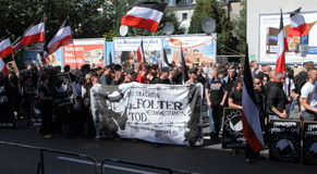 03 Sept 11 Neo-Nazi Demo in Dortmund Germany- Royalty Free Stock Photos
